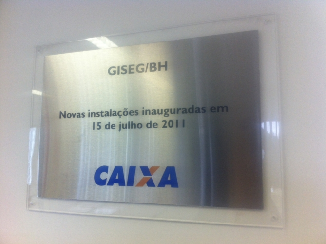 Placa em impress�o digital