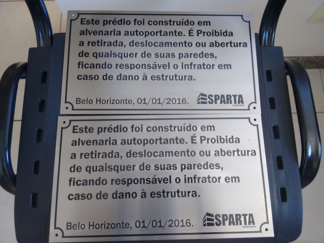 PLACA DE ADVERTENCIA DE ACO INOX