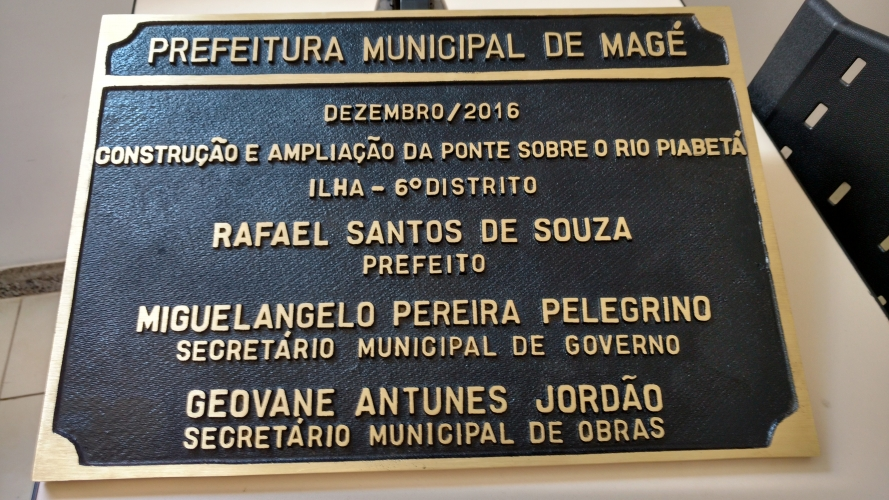 PLACA DE BRONZE FUNDIDO - MAGE